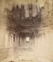 View of portion of interior of dome of the Jami Masjid, Champaner